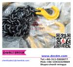 Grade 80 chain with clevis slip hook w/latch both ends