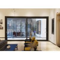 5mm Black Aluminium Doors And Windows / Exterior Aluminum Entry Doors Commercial