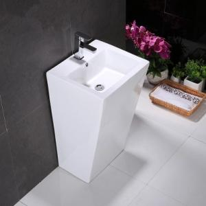 Quality China Big Size Floor Mounted Single Hole One Piece Pedestal Wash  Deep Sink For Sale