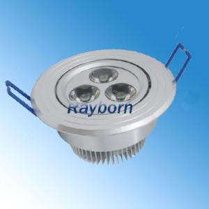China AC100 - 240V 3W 270LM Energy Saving Recessed Led Ceiling Light Fixture For Schools, Shop on sale