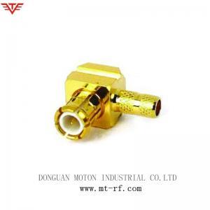 China MMCX à angle droit masculin de connecteur pour l'équipement de WiFi du câble RG405 on sale