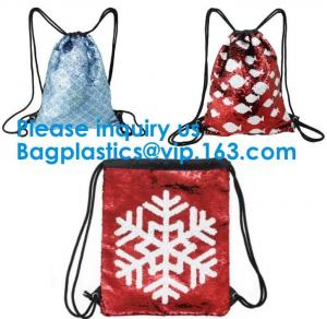 China China Factory Custom Printed Drawstring Bag Christmas Drawstring Pu Leather Bag,Drawstring Pu Leather Bag 210D fabric, on sale