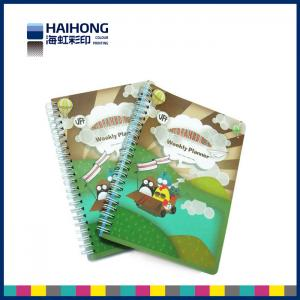 China Full color Double spiral bound notebook printing / wood free paper 120 pages on sale