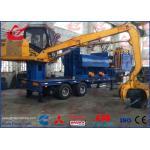 Light Scrap Metal Logger Baler Mobile Bailing Press Machine With Grab and Diesel Engine