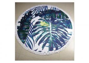 China 100% Cotton Circle Beach Towel With Tassel , Round Towel Beach For Floor on sale