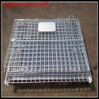 China wire mesh container /steel cages for storage/1200x1000x1000mm metal storage cage with wheels /mesh security cages on sale