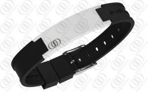 China White Ceramic Stainless Steel Bracelets With Magnets and Germanium on sale