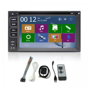 China 6.2 inch Touch Screen Double Dins universal car Gps navigator with bluetooth,Radio,SD on sale
