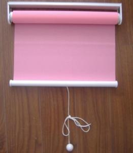China spring 100% polyester fabric roller blinds for windows with aluminum headrail and toprail on sale