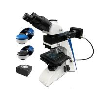 China Trinocular upright digital optical metallographic microscope with camera on sale