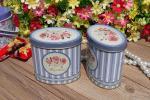 Logotipo de encargo del chocolate del SGS del té de la caja oval roja de la lata que imprime 110 * 74 * 190 milímetros