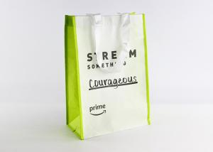 China RPET Large Non Woven Tote Bag Polypropylene Reusable Shopping Bags With Lamination on sale