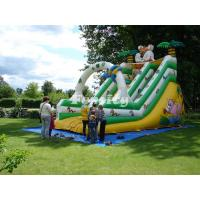 Tiger Jungle Kids Inflatable Slide With Exquisite Animal Pattern Printed