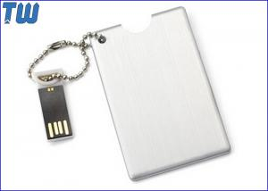 China Metal Credit Card USB Flash Drive Device High Quality Printing Free Ball Chain on sale