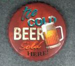 Wall Hanging Beer Bottle Cap Sign Tin Sign Restaurant wall hanging ancient beer bottle cap