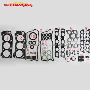 China For TOYOTA LANDCRUISER TUNDORA TACOMAV6 24V 5VZFE Overhaul Package Complete Engine seal Gasket Set 04111-62081 50177700 supplier