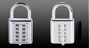 Quality Mini Push Button Code Resettable Combination Padlock 10 Pin Sports Locker for sale