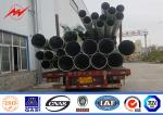 Galvanization 18m Steel Utility Pole Power Line Pole For 33kv Transmission Line