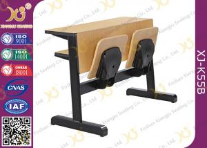 China Custom Size Plywood College Classroom Furniture Desk And Chair Seat Folded on sale