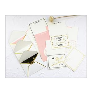 China Waterproof Wrapping Paper Envelope Rose Gold Edge For Wedding Invitation on sale