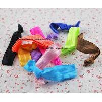 China Wholesale Unisex Knotted Velvet Elastic Glitter Hair Band on sale
