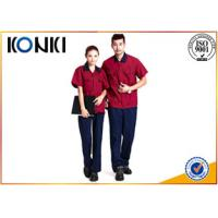 Durable Custom Professional Work Uniforms in red color for engineers