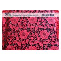 Fashion Underwear Embroidered Nylon Cotton Lace Fabric / Knitted Lace Fabric
