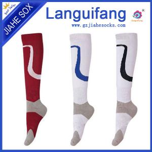 China custom men knee high football socks ,athletic team soccer socks supplier