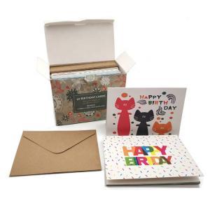 China Matt Lamination Custom Paper Greeting Card , Custom Gift Card Printing on sale