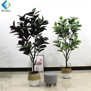 China 1.6m Height Artificial Bonsai Tree , Faux Rubber Tree Plant For Indoor R020010 on sale