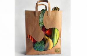 China Custom Printing  Brown / White Kraft Paper Bags Shopping Bag CMYK on sale