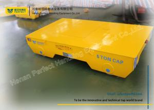 battery powered electric flat cars on rail for industrial transfer