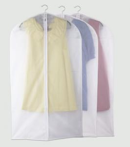 China Transparent PEVA Suit Cover Garment Bag with Silk-Screen Printing on sale