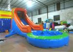 Single slide inflatable water slide small inflatable water slide with pool for kids