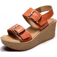 enuine Leather Casual Wedge Sandals For Women