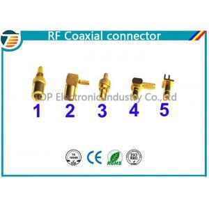 China 50 ohms, réflexion droite à angle droit de connecteur coaxial de SMB de 75 ohms basse on sale
