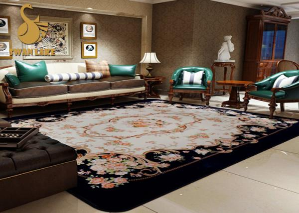 Personalized Oil Proof Round Oriental Rugs Washable Area