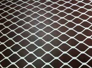 China White PVC Coated Flattened Expanded Metal Mesh For Steel Reinforcement on sale