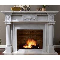 China 白い大理石の暖炉のマントルピース on sale