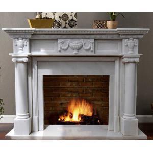 China mantel de marbre blanc de cheminée on sale