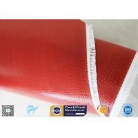 80g Single Side Silicone Coated Fiberglass Fabric Red Color Non - Flammable E-Glass Fiber