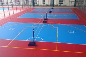 China Eco-friendly Synthetic Material Basketball Sport Court Flooring In Red Color on sale