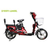 Red Lady & Child Power Assisted Bicycle 16 Inch Wheel Pedal Electric Bike