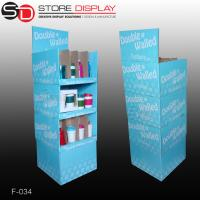 grocery store pop corrugated display stand for bottles