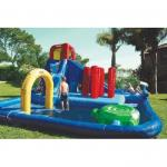 China Double Lane Inflatable Water Park , Kids Inflatable Wate Slide wholesale