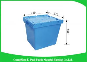 China 170L100% New Pp Heavy Duty Storage Bins , Plastic Box With Hinged Lid Space Saving on sale