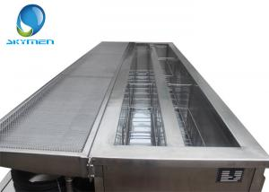 China Long Ultra Sonic Tank Electric Ultrasonic Blind Cleaner With Two Tanks supplier