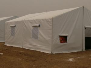 China Customized Military Style Tents Self Cleaning Heat Insulation With PVC Sidewall on sale