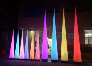 China PVC Material LED Air Cone / Inflatable LED Cone Lights With Blower Lamp on sale