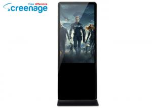 China 400nits LCD Advertising Display  Floor Stand  Infrared Touch Screen on sale